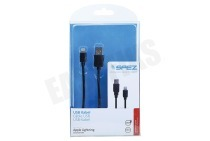 USB Kabel Apple Lightning 100cm Zwart