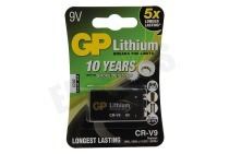 GP 070CR9VC1  6LR61 Photo battery 9V geschikt voor o.a. E blokje Lithium *10 jr mbt rookmelder*