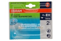 Osram 4008321977571  Halogeenlamp Haloline ESS R7s 74.9mm Buislamp 48W 230V 750lm