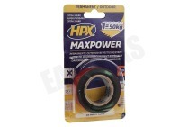HPX  OT2502 Maxpower Outdoor Antraciet 25mm x 1,5m Bevestigingstape, 25mm x 1,5 meter