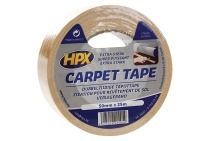 HPX CT5025 Carpet tape Dubbelzijdig 50mm x 25m Bevestigingstape, 50mm x 25 meter