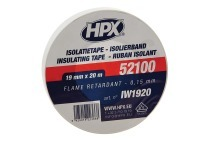 HPX IW1920  52100 PVC Isolatietape Wit 19mm x 20m Isolatietape, 19mm x 20 meter