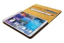 Spez 22897  Book Case Leder, Zwart, 4 creditcard slots, 1 document slot Samsung Galaxy Tab S 8.4""