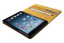 Spez 22908  Book Case Leder, Zwart, 4 creditcard slots, 1 document slot Apple iPad Mini / Mini 2 / Mini 3