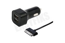 Spez 10480  Autolader Apple Dock connector, 5V / 2.4A, 100cm Apple iPad 1, iPad 2 en iPad 3