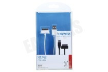 Spez 10552  USB Kabel USB naar Apple Dock, Wit, 100cm Apple 30-pin Dock connec.