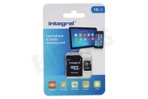 Integral INMSDH16G10-90SPTAB  Memory card Smartphone & Tablet, Class 10 (incl.SD adapter) Micro SDHC card 16GB 90MB/s