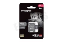 Integral  INMSDX64G10-90U1 Ultima Pro Micro SDHC Class 10 64GB 90MB/s Micro SDHC card 64GB 90MB/s