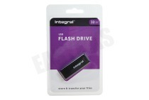 Integral INFD32GBBLK.  Memory stick 32GB USB Flash Drive Zwart USB 2.0
