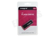 Integral INFD128GBBLK  Memory stick 128GB USB Flash Drive Zwart USB 2.0