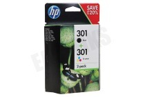 HP 301 Combi Black + Color N9J72AE