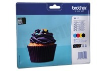 Brother BROI123V Brother printer Inktcartridge LC 123 Multipack DCPJ132W, DCPJ152W, MFCJ245