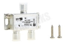 Hirschmann 695020471 DFC 2104  Coax Splitter F-Connector Contra Female - 2x F-Connector Contra Female 2-Weg, 5-1250 MHz, nummer 12
