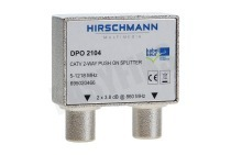 DPO2104 Coax Splitter IEC Female ingang, 2x Male uitgang, nummer 11