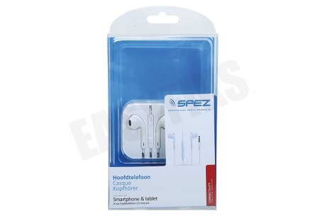 Spez  In Ear Hoofdtelefoon Wit, 3,5mm Jack