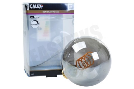 Calex  Globe LED lamp Flexible Filament Titanium E27 Dimbaar