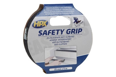 HPX  SB2505 Safety Grip Zwart 25mm x 5m