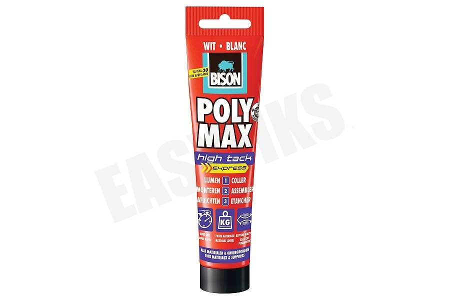 Bison  Poly Max High Tack Express Wit 165gr Tube