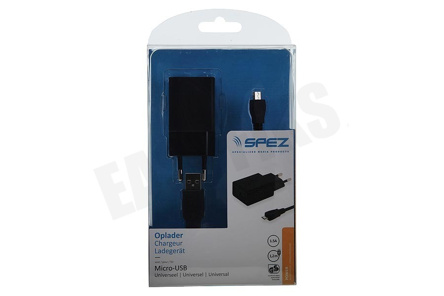 Spez  Oplader Micro-USB, 1.5A, 100cm