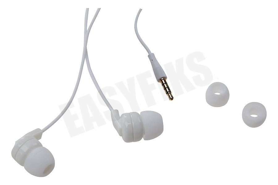 Spez  Stereo headset In-ear met opname knop, Wit