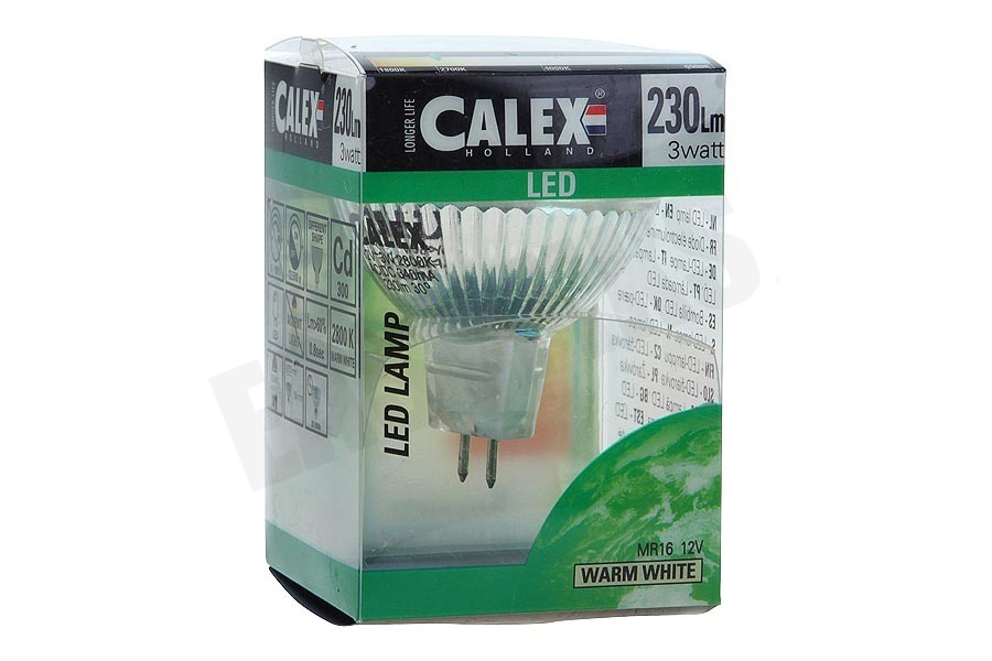 Calex  423750 Calex COB LED lamp MR16 12V 3W 230lm 2800K halogeen look
