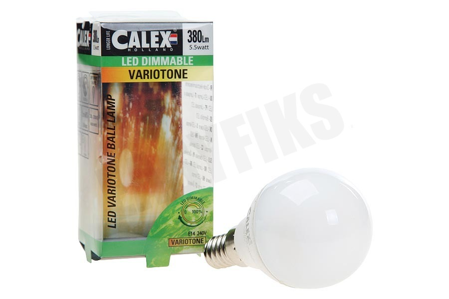Calex  422200 Calex Satin Crystal LED Kogellamp 5,5W 380lm E14 P45