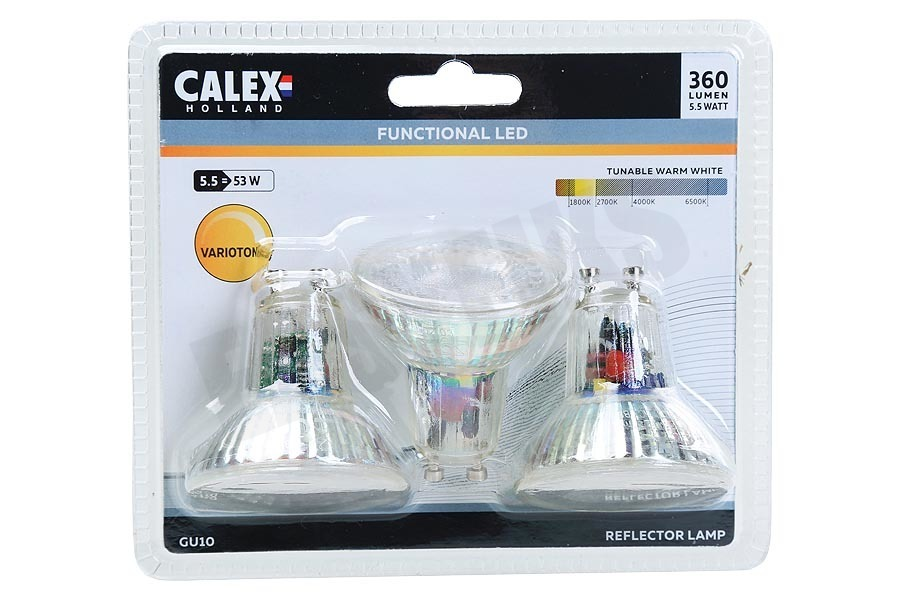 Calex  423462.03 Calex SMD LED lamp GU10 5,5W 360lm 3-Pack