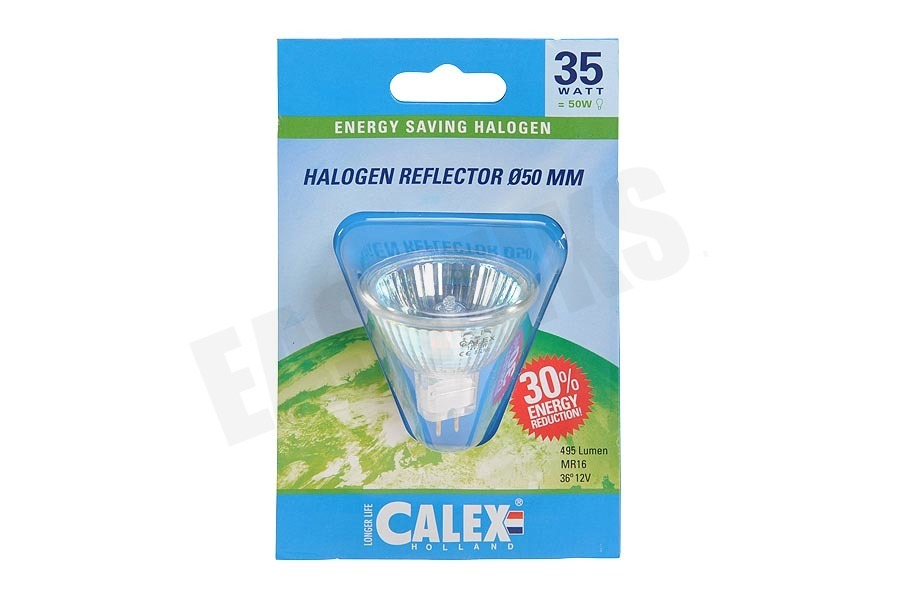 Calex  509778 Calex Spaar Halogeenlamp MR16 12V 35W(43W) GU5.3 50mm