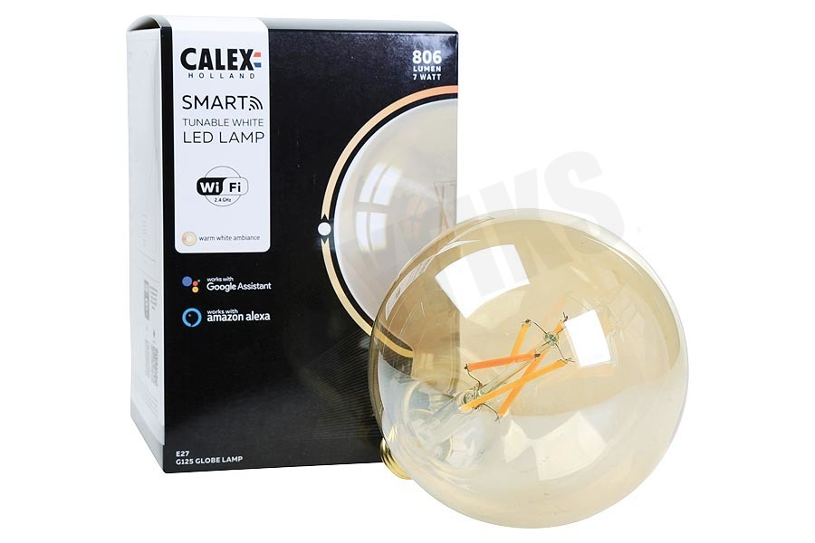 Calex  Smart LED Filament Rustic Gold Globelamp E27 Dimbaar