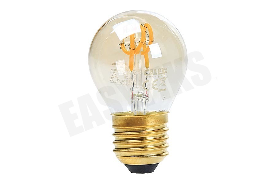 Calex  Kogel LED lamp Flexible Filament Gold E27 Dimbaar