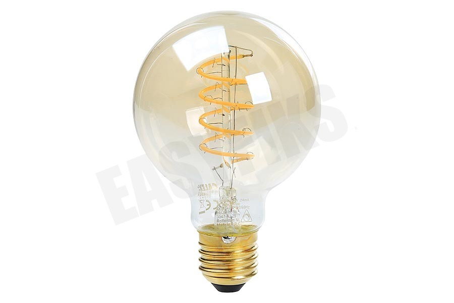 Calex  Globe G80 LED lamp Flexible Filament Gold E27 Dimbaar