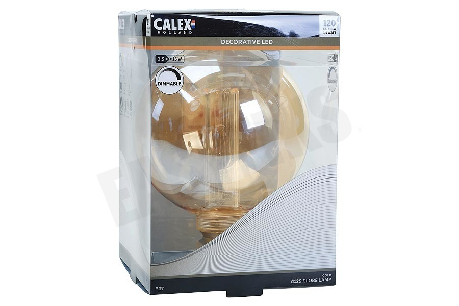 Calex  Globe G125 LED lamp Crown Filament SMD E27 Dimbaar