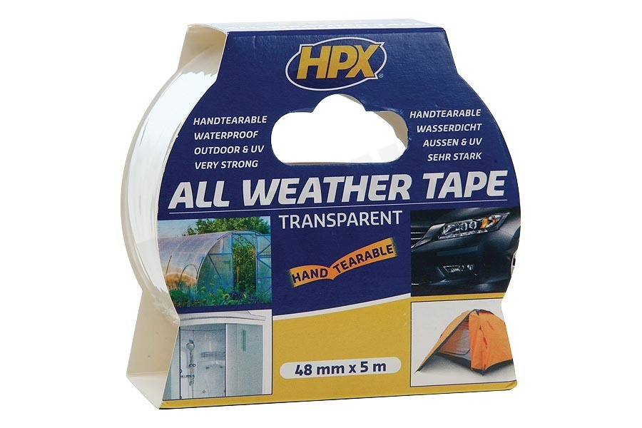 HPX  AT4805 All Weather Tape Transparant 48mm x 5m