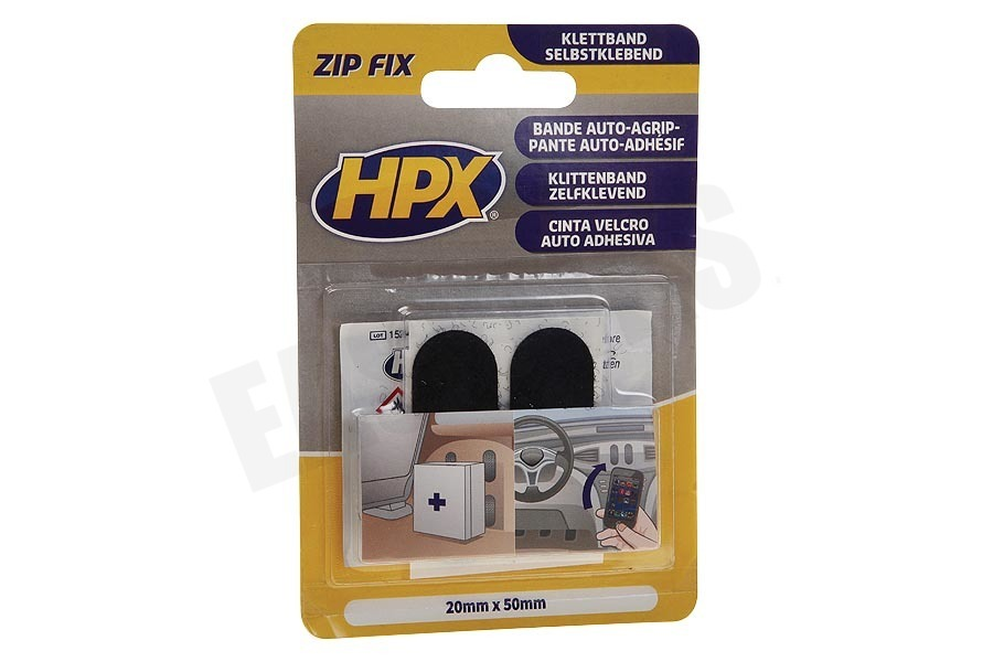 HPX  ZF1000 Zip Fix Klittenband Pads 20mm x 50mm