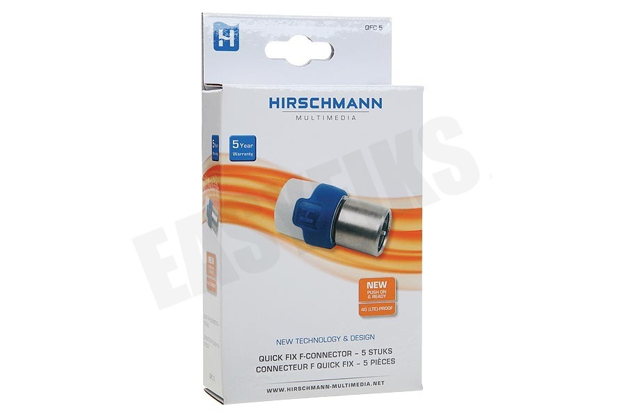 Hirschmann  QFC 5 F-connector Quick Fix, nummer 8